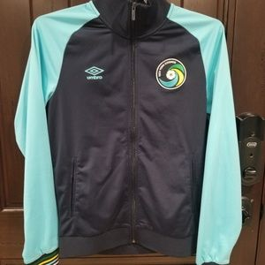 Umbro New York Cosmos Soccer Navy Blue Zip Front Track Jacket Mens NWT